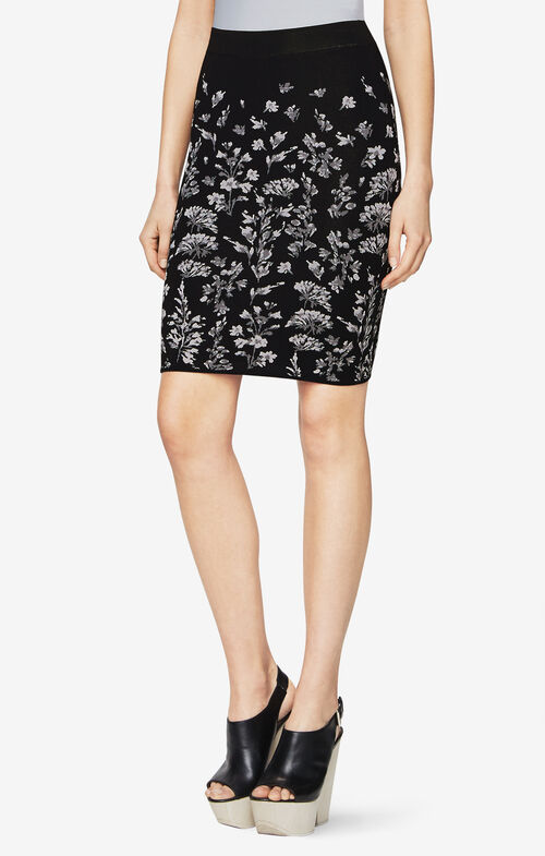 Alexa Floral Pencil Skirt