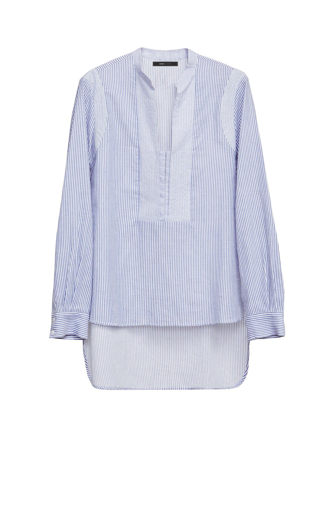 Jola Long-Sleeve Fabric-Blocked Top
