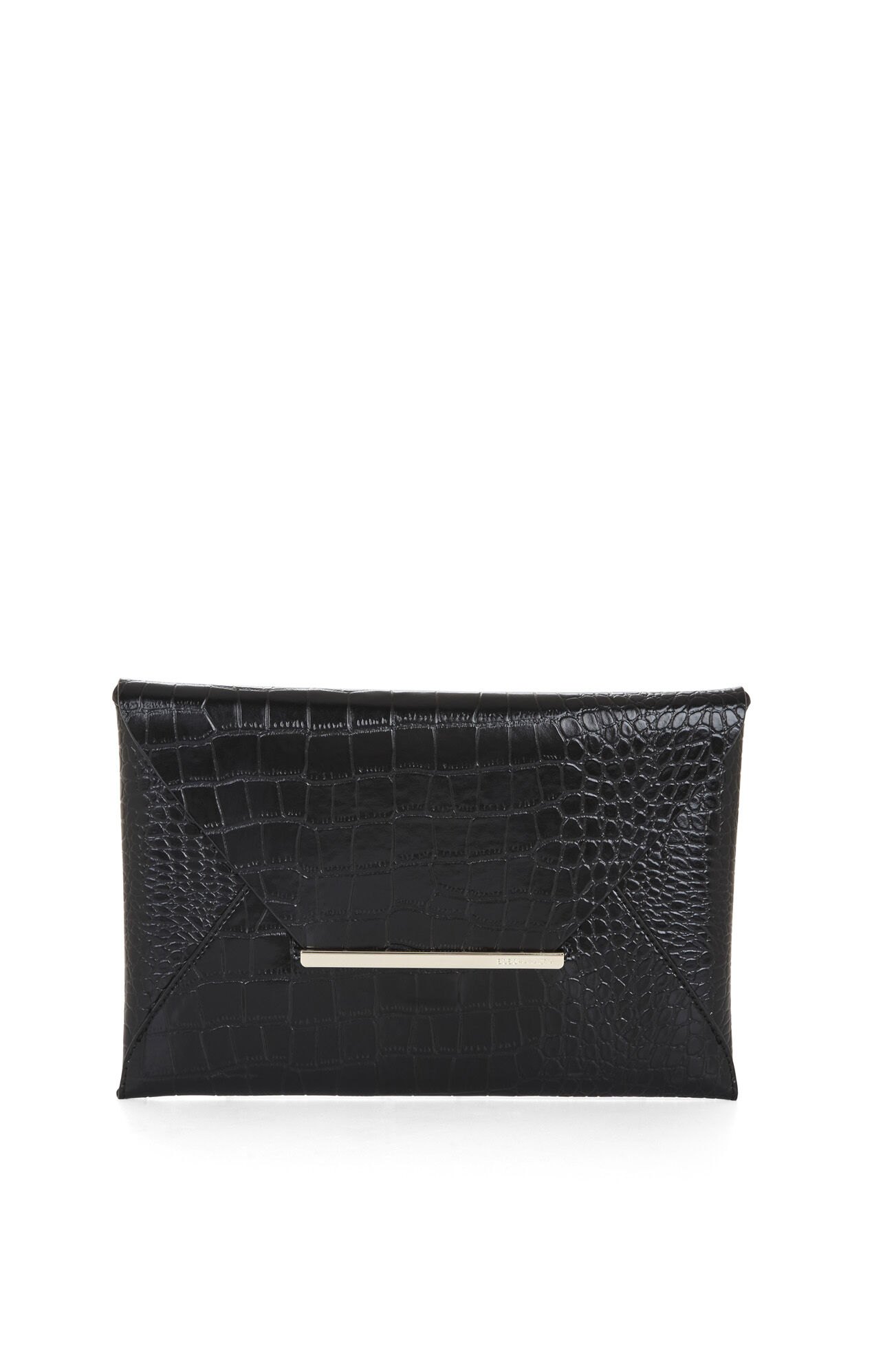 Harlow Crocodile Envelope Clutch