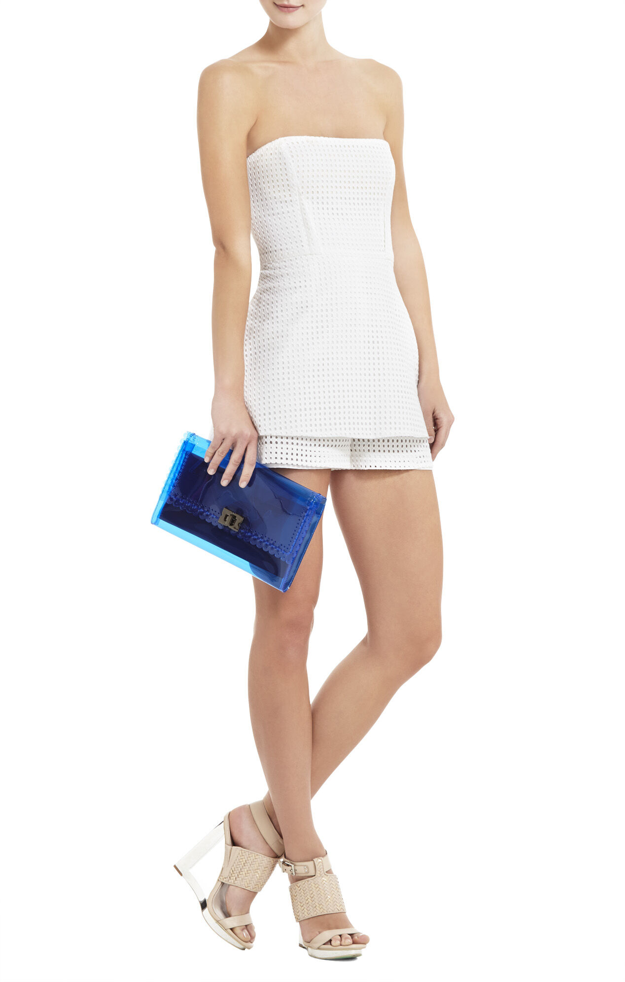 Scalloped Perforated Clutch