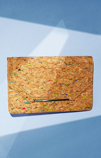 Kamila Cork Envelope Clutch