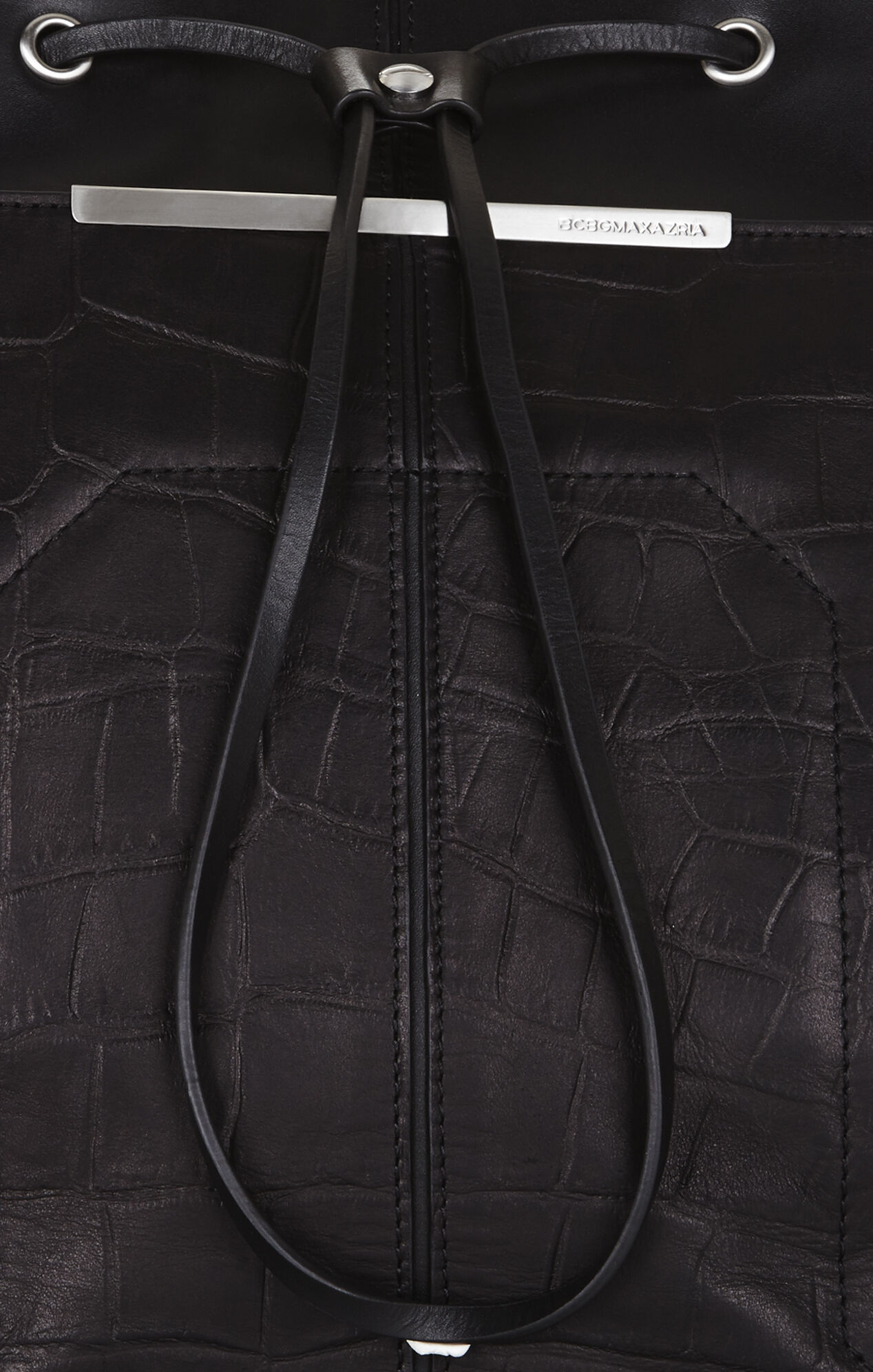 Runway Crocodile-Embossed Leather Backpack