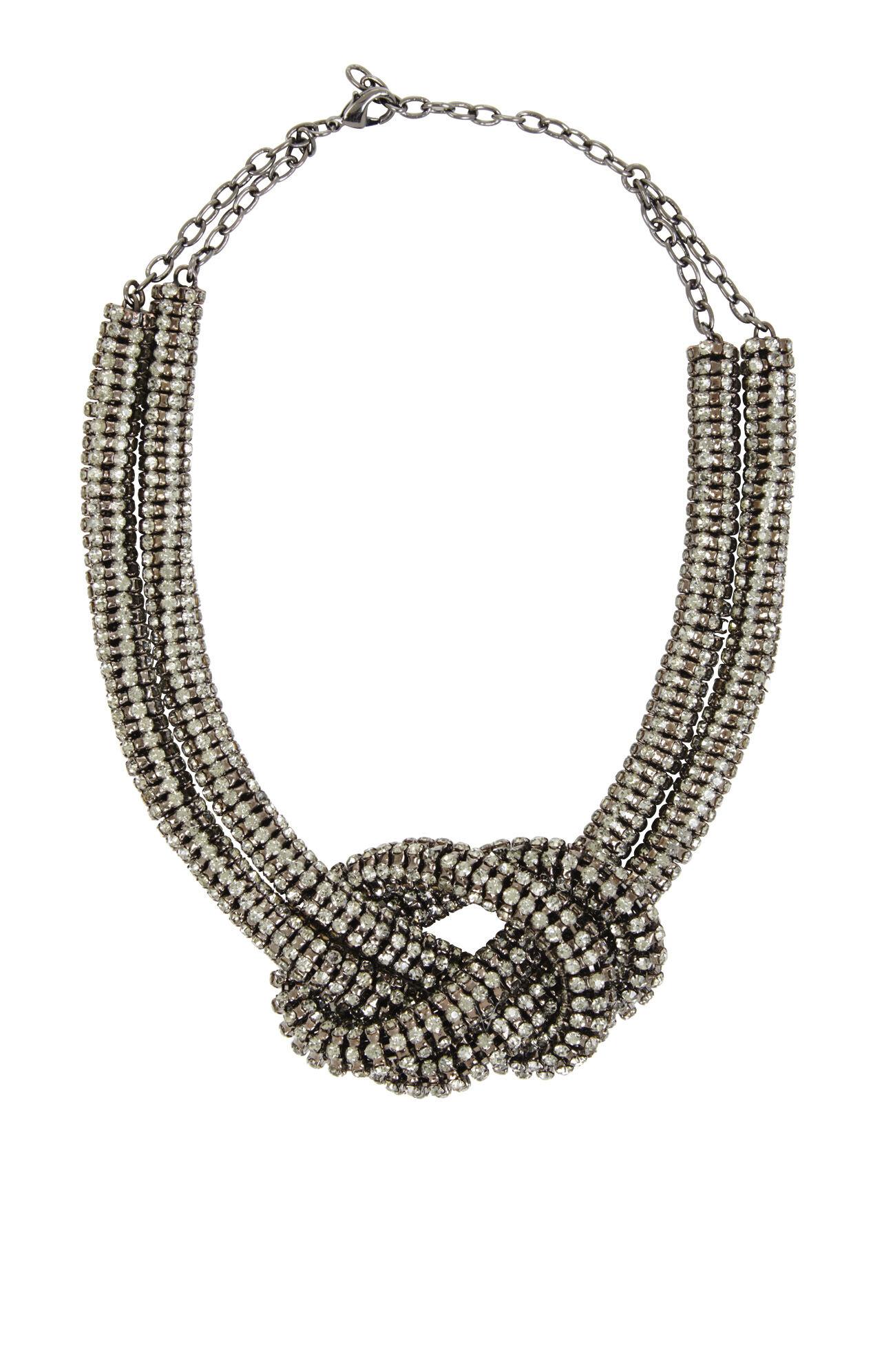 Rhinestone Knot Necklace