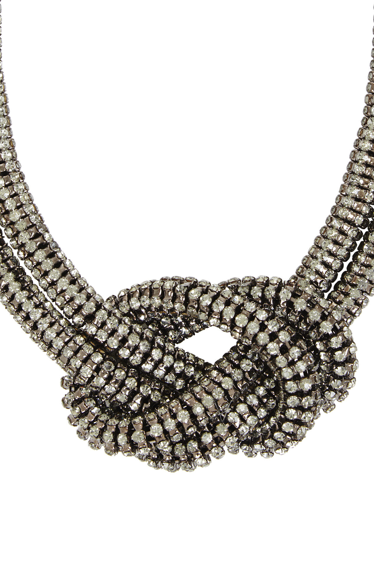 Rhinestone Knot Necklace
