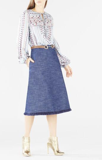 Evanna Printed Peasant Blouse
