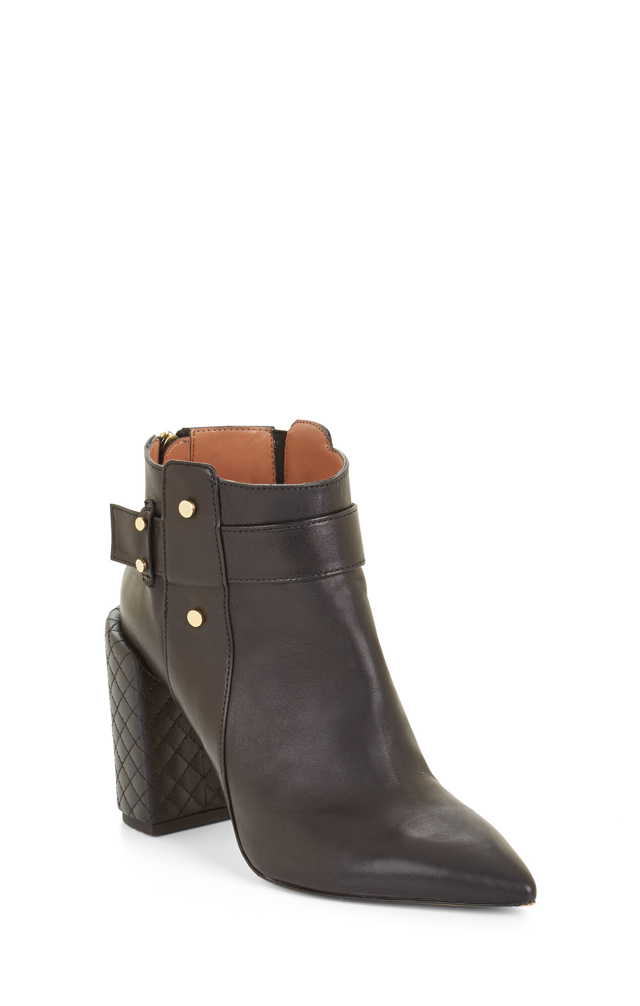 Jarod High-Heel Leather Bootie