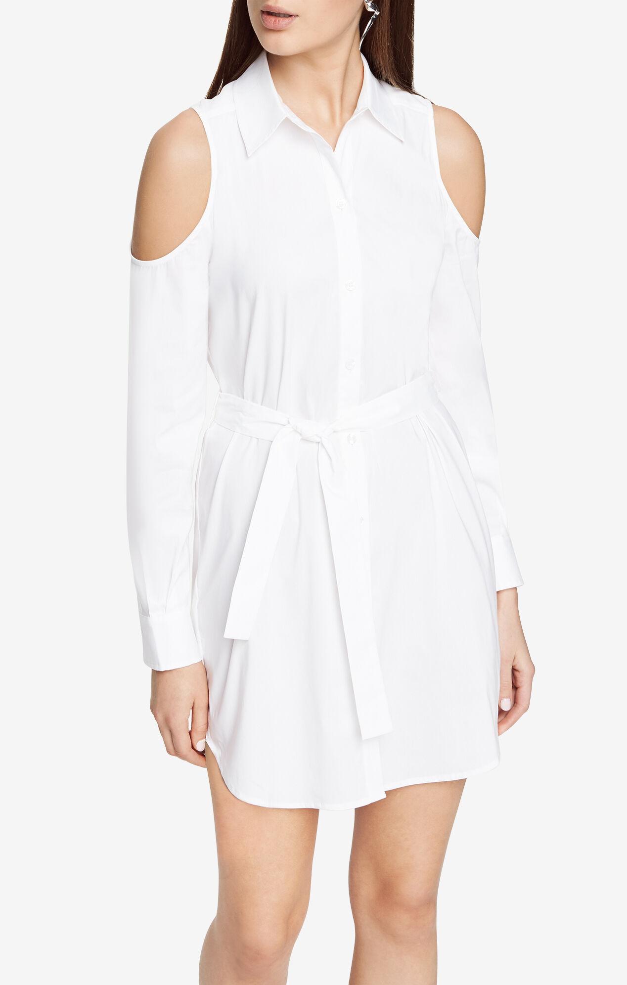 Ani Cold-Shoulder Shirt Dress
