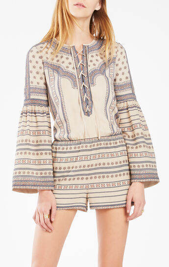 Nancie Medallion Print Romper