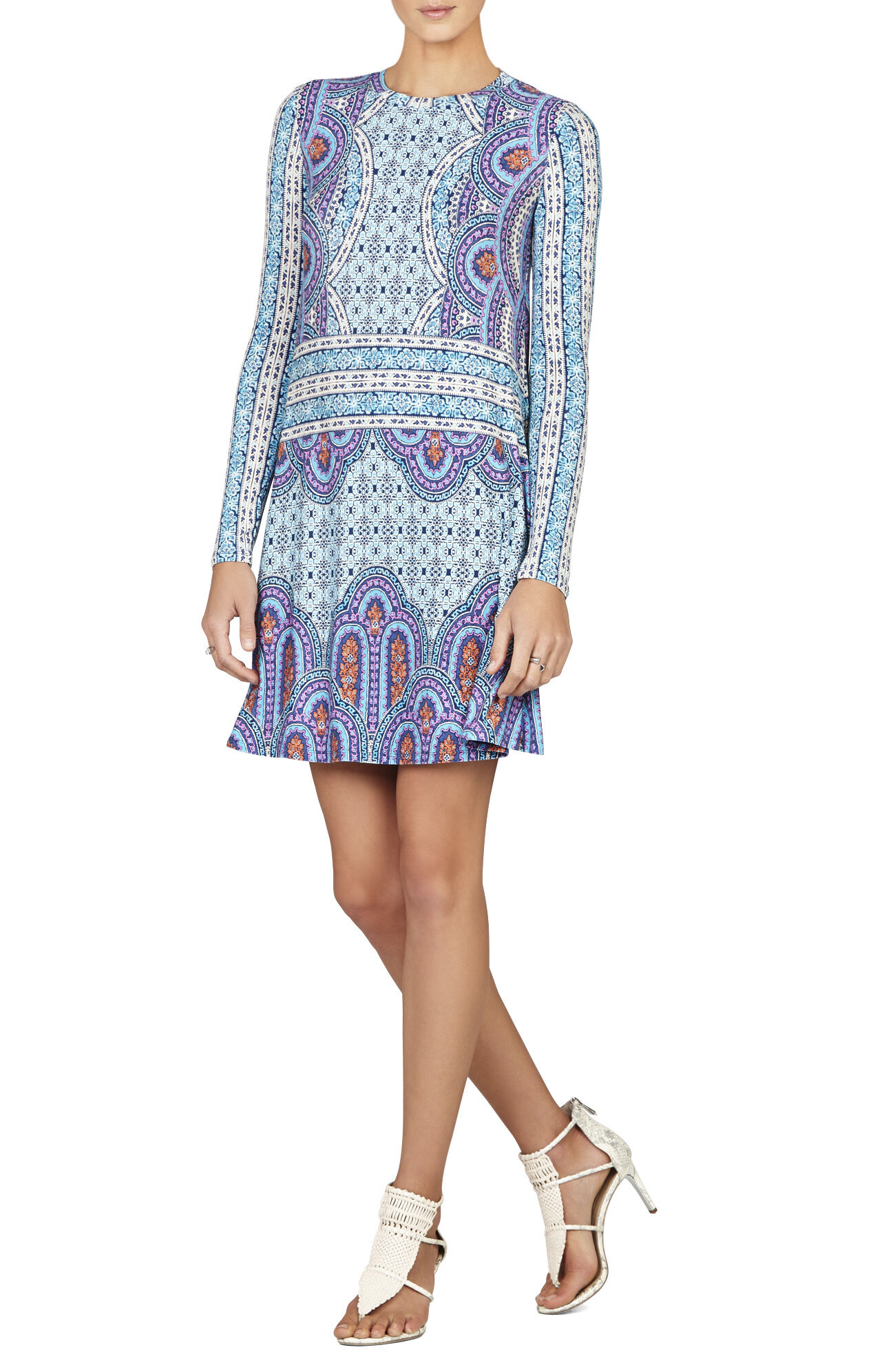 Jeanna Crewneck Long-Sleeve Dress