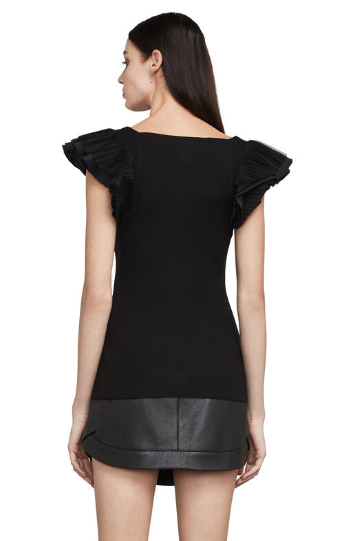 Mirabelle Layered-Sleeve Top
