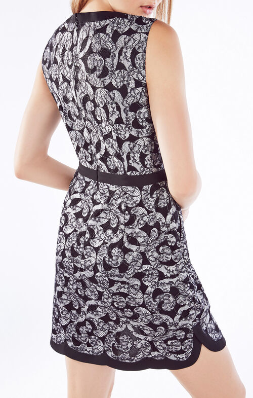 Sirena Floral Lace Scroll Dress