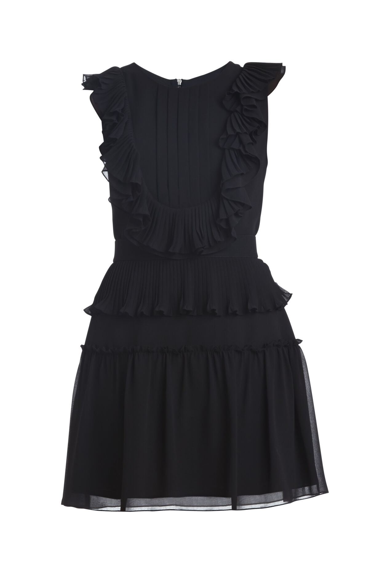 Britt Pleated Ruffle Dress