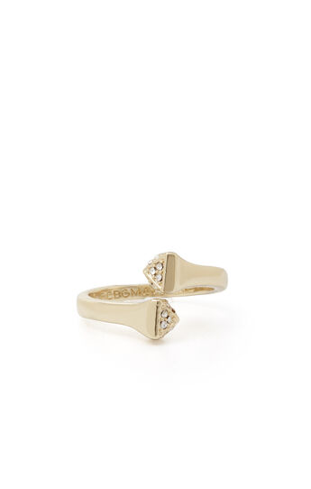 Pave Twisted Pyramid Ring