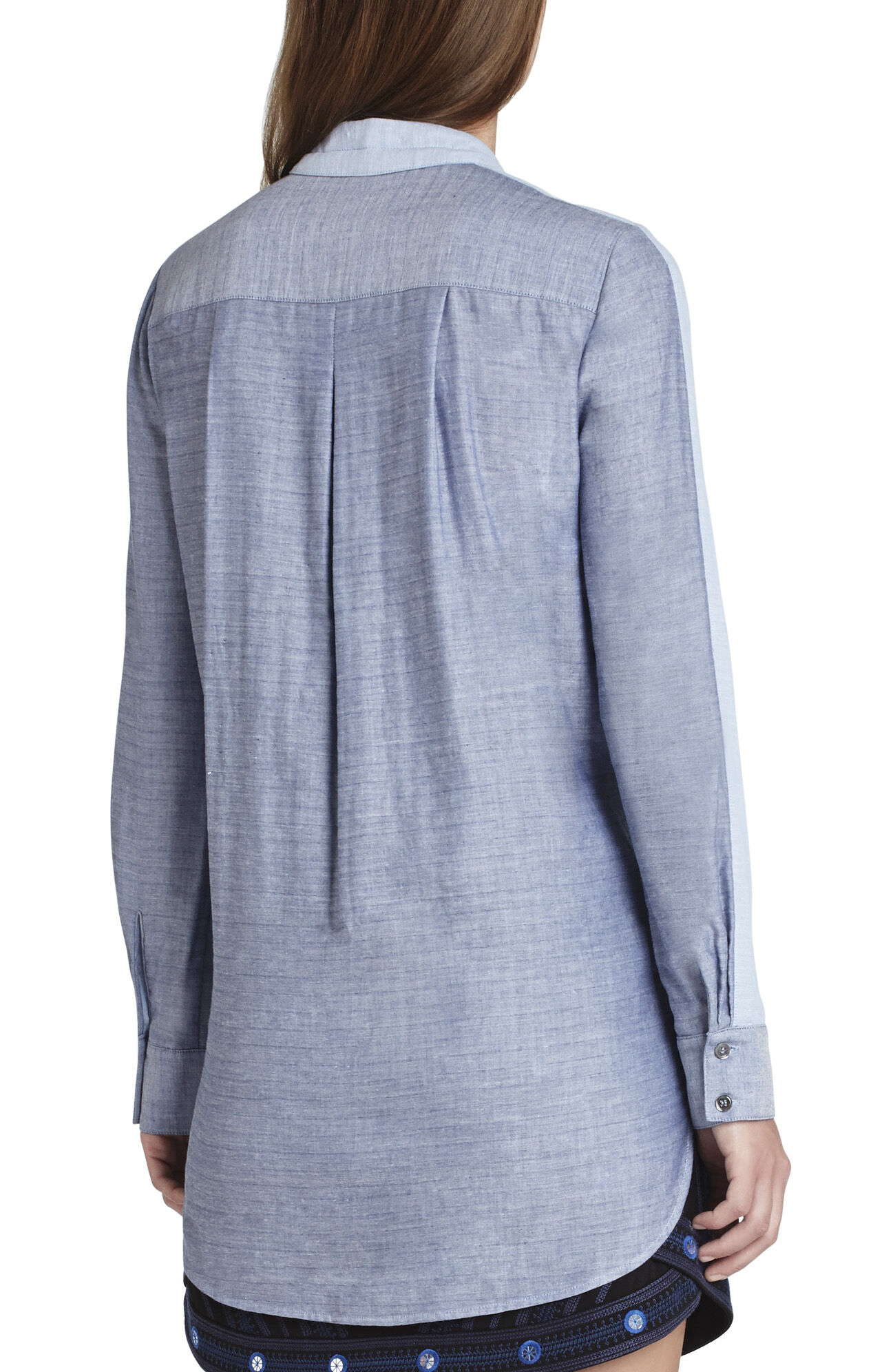 Sidnee Long-Sleeve Stitched-Collar Shirt