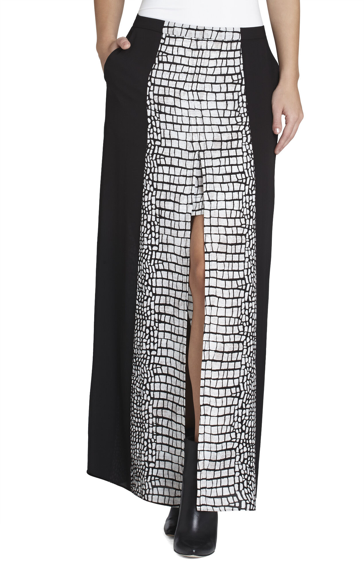 Jane Contrast-Trim Skirt