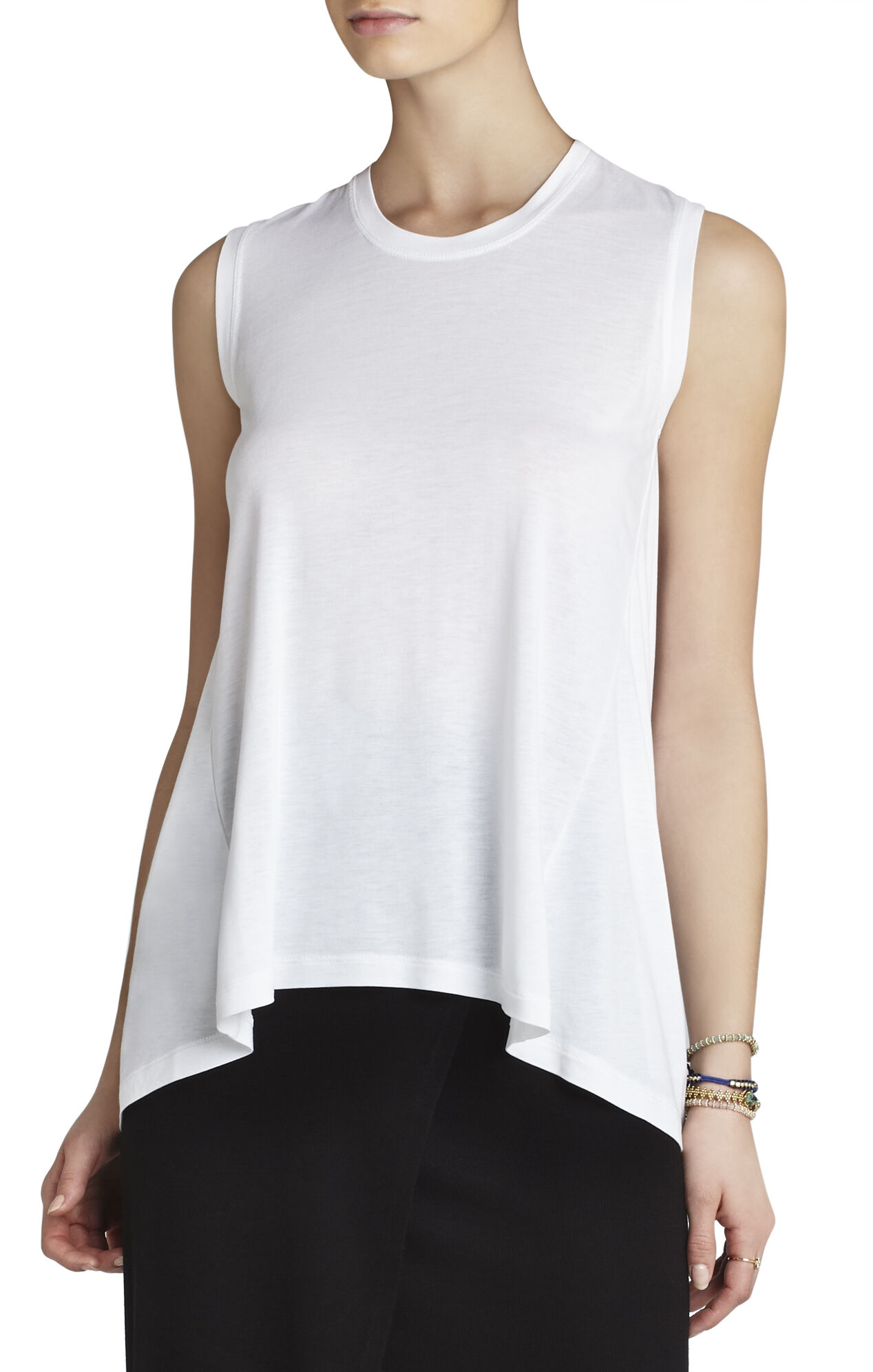 Estee Sleeveless Contrast-Back Top
