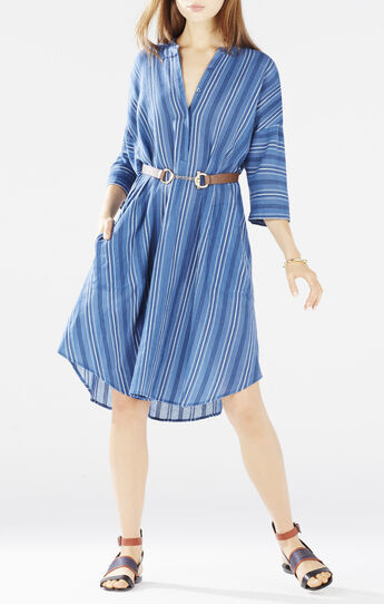 Kieley Striped Shirt Dress
