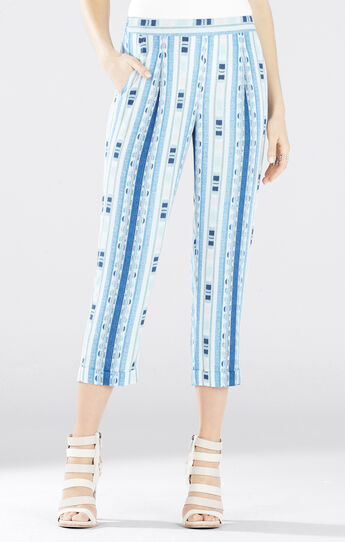Cedric Ikat Printed Cropped Pants