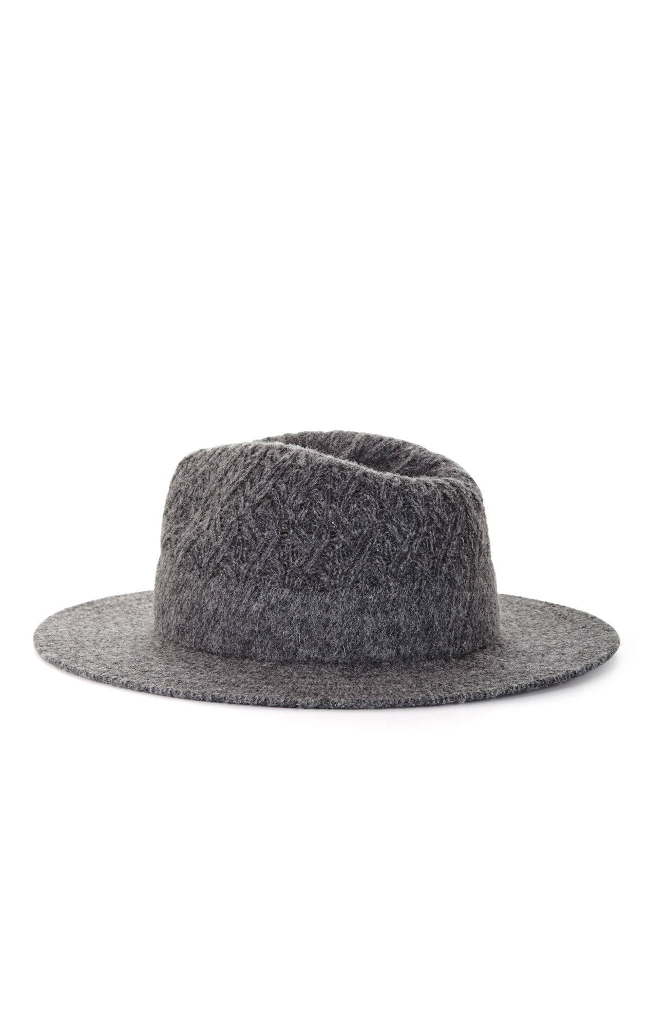 Diagonal Stitch-Knit Fedora