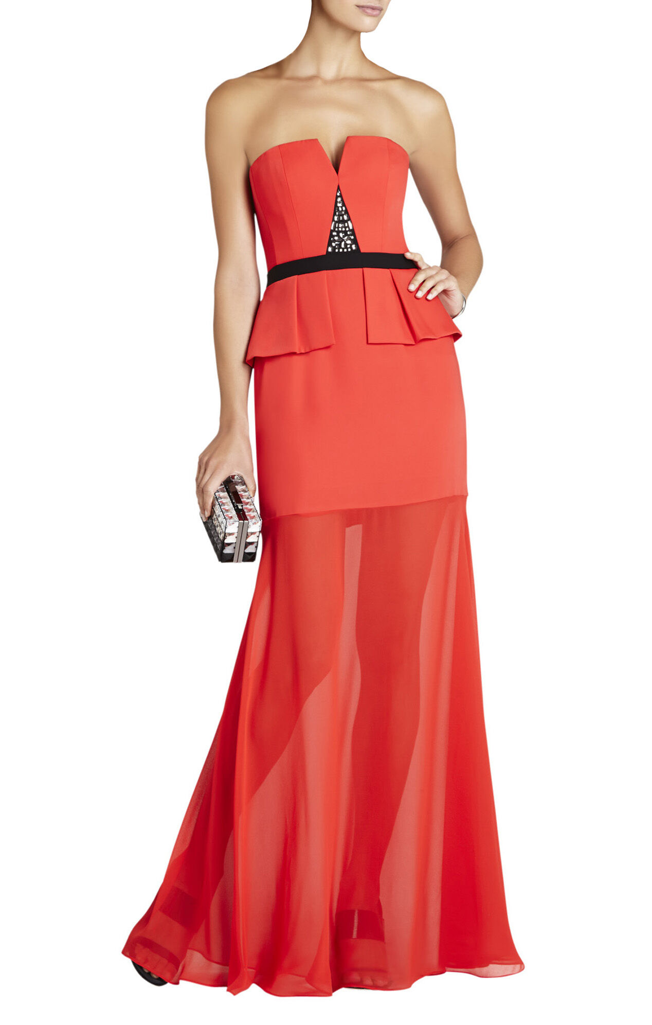 Caitlyn Strapless Embellished-Bodice Gown