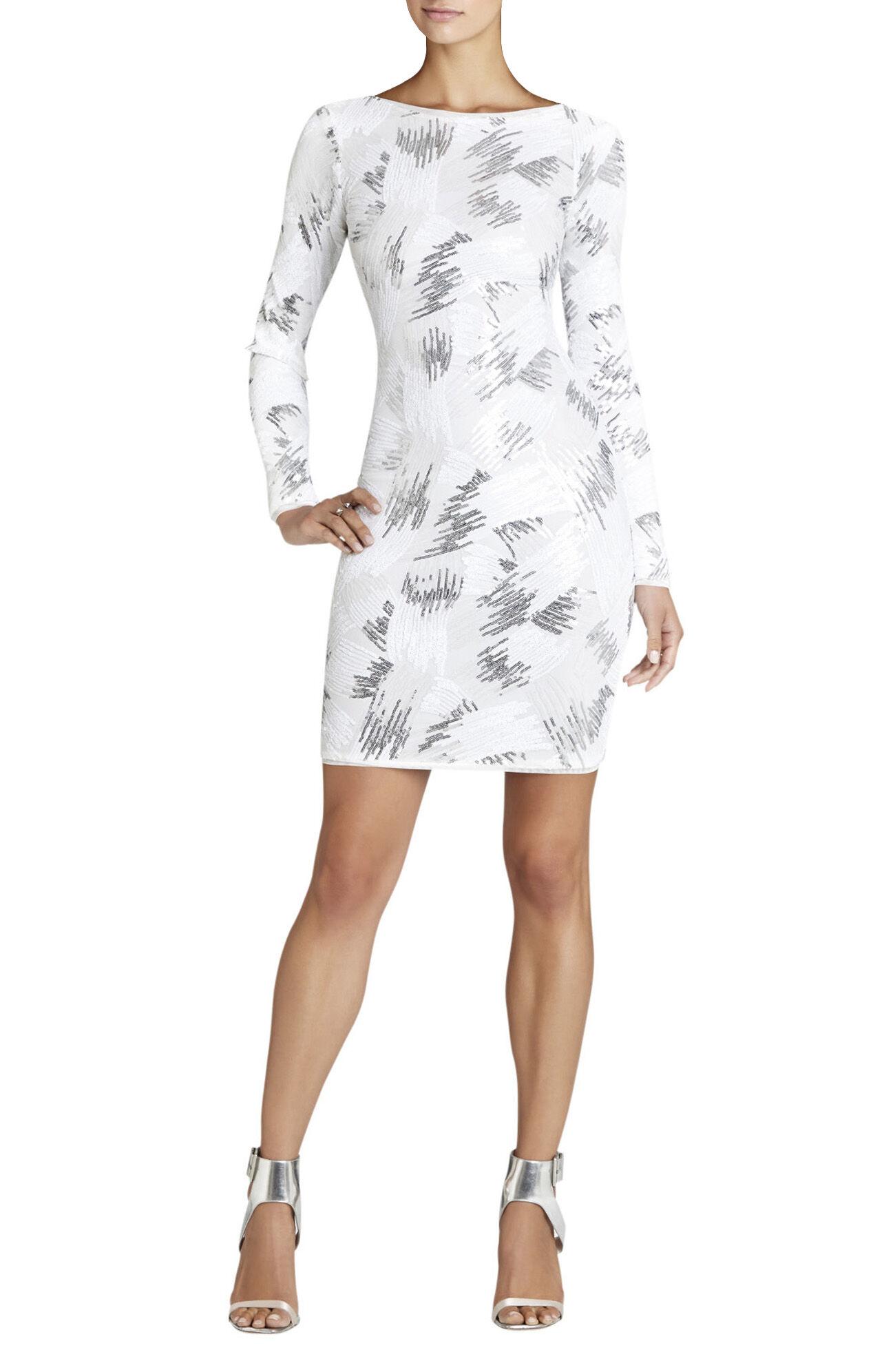 Kamila Long-Sleeve Sequin Dress