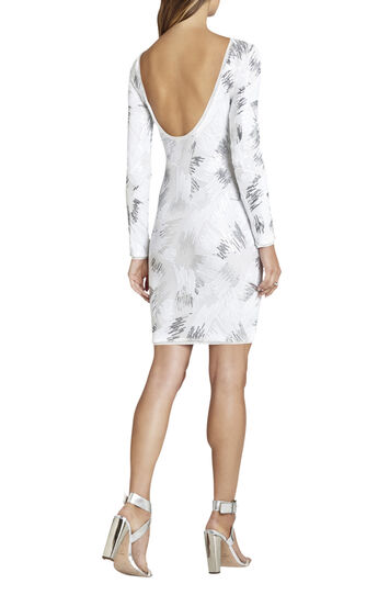 Kamila Long-Sleeve Sequin Dress