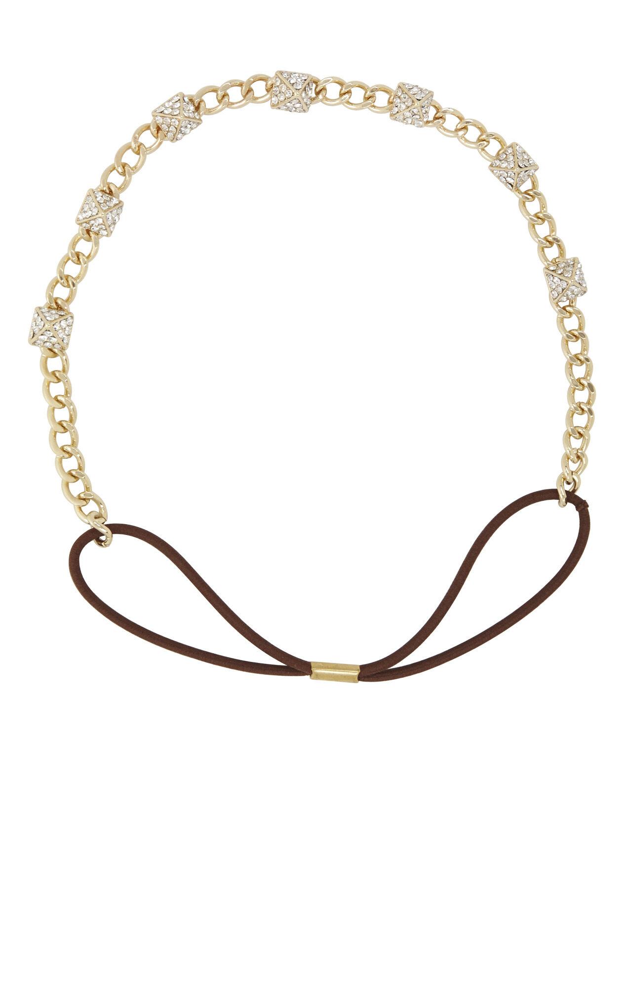 Pave Stud Chain Elastic Headband
