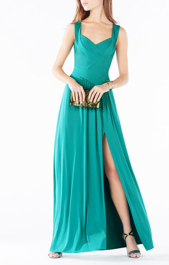 Thora Pleated Gown