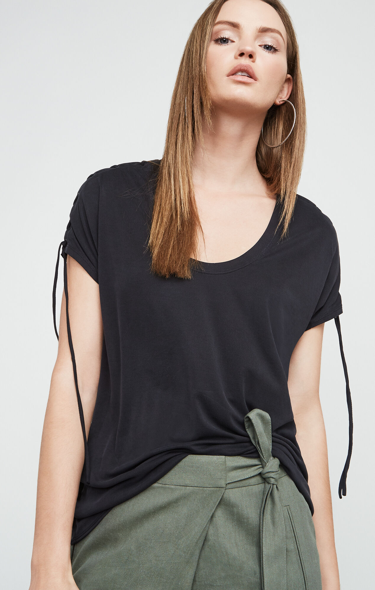 Kadie Lace-Up Top