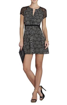 Stephanie Ruffled Lace Dress