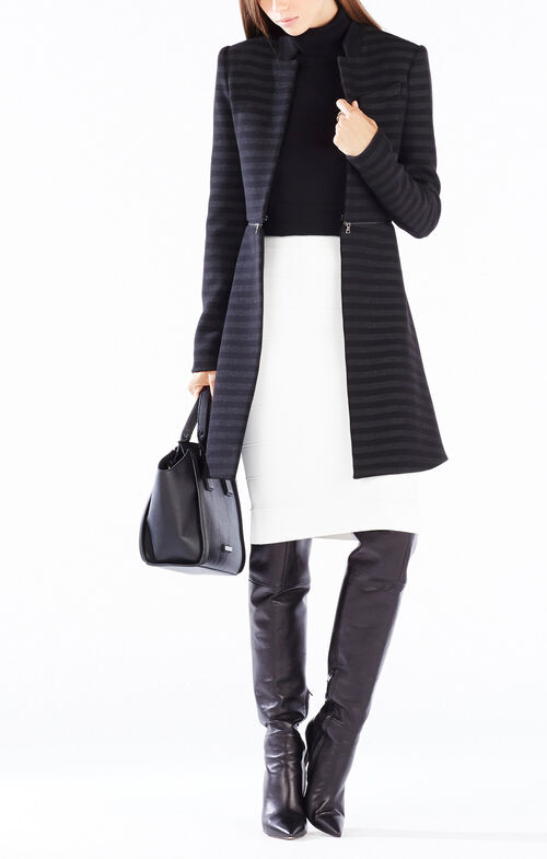 Areua Striped Zip-Waist Jacket