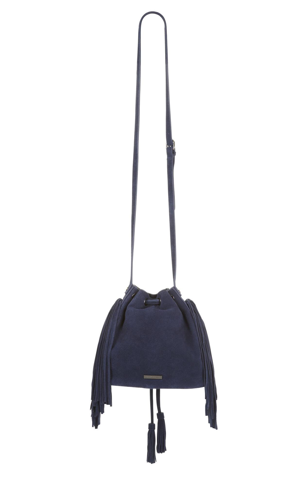 Faye Suede Fringe Bucket Bag