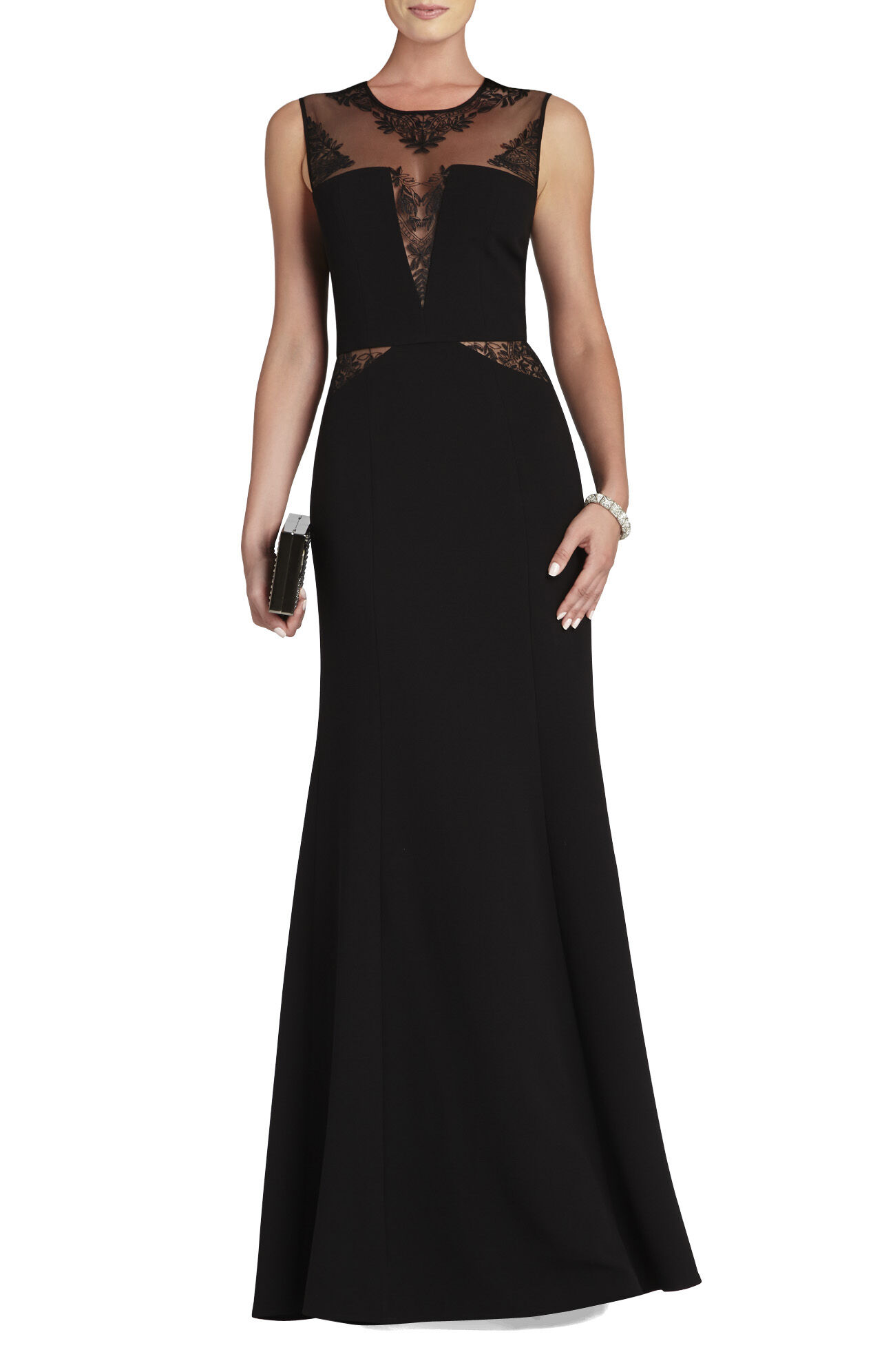 Sachie Lace-Insert Gown