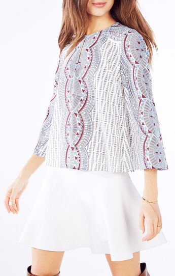 Kyndal Burnout Deco Print Top