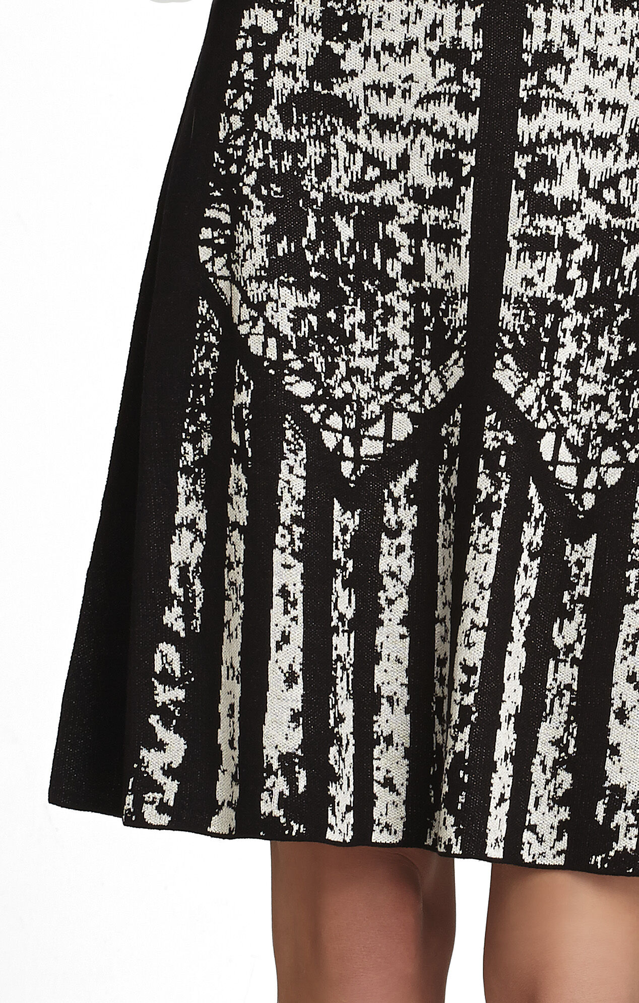 Krystal Brush-Stroke Jacquard Dress