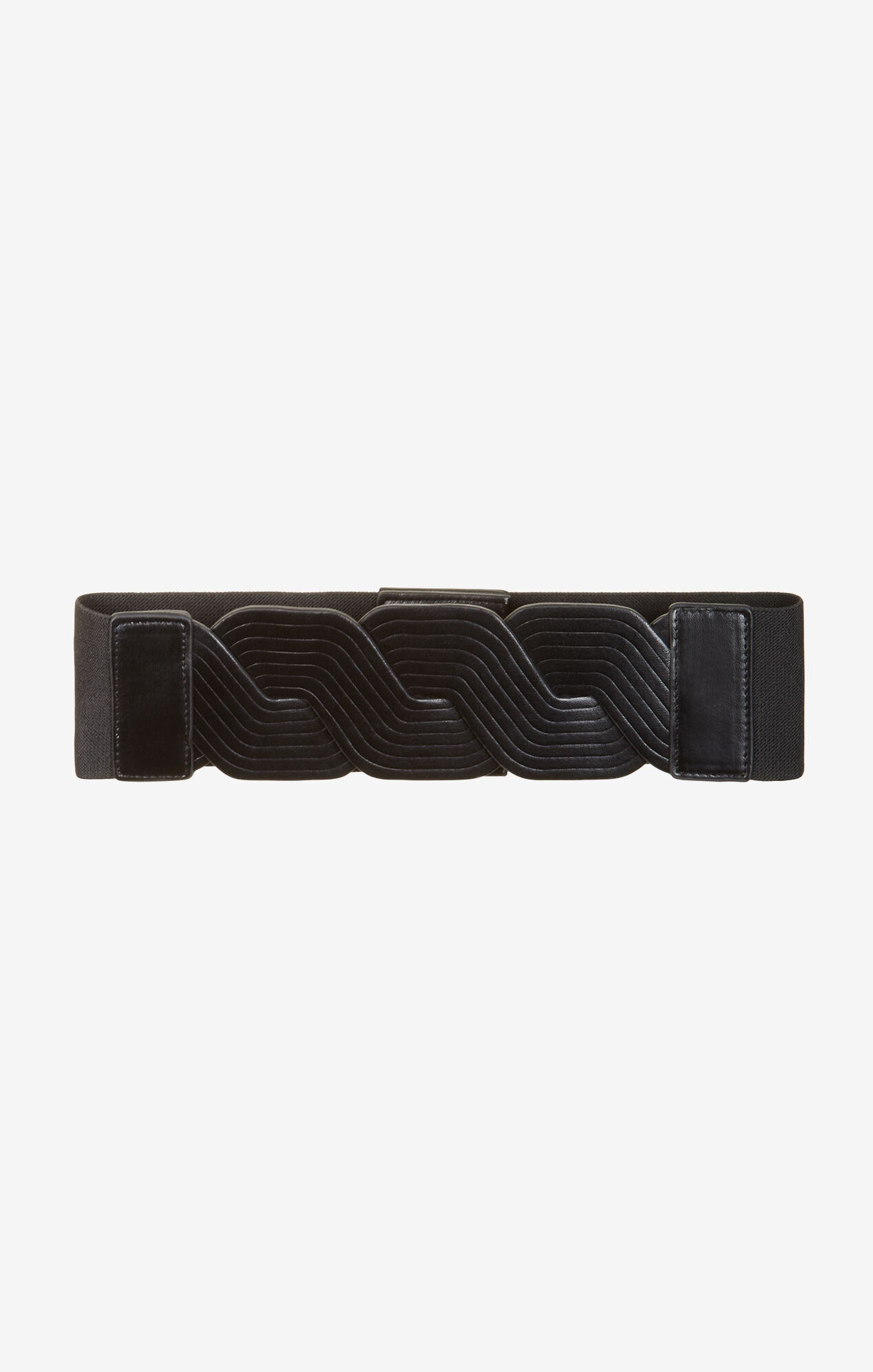 Twisted Faux-Leather Waist Belt
