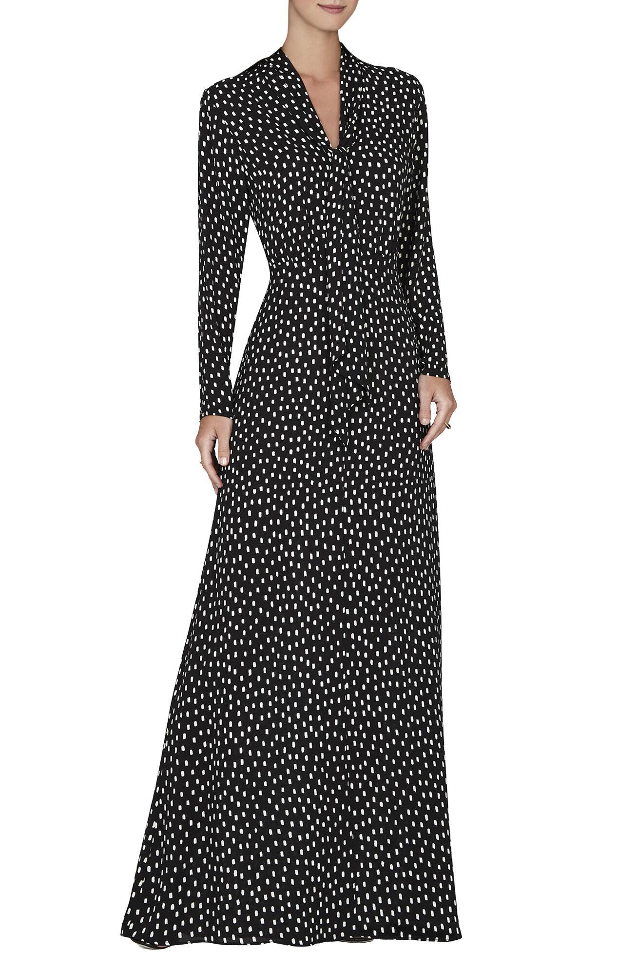Alicha Tie-Neck Gown