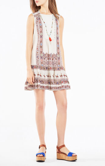 Yulissa Tapestry Print Flounce Dress