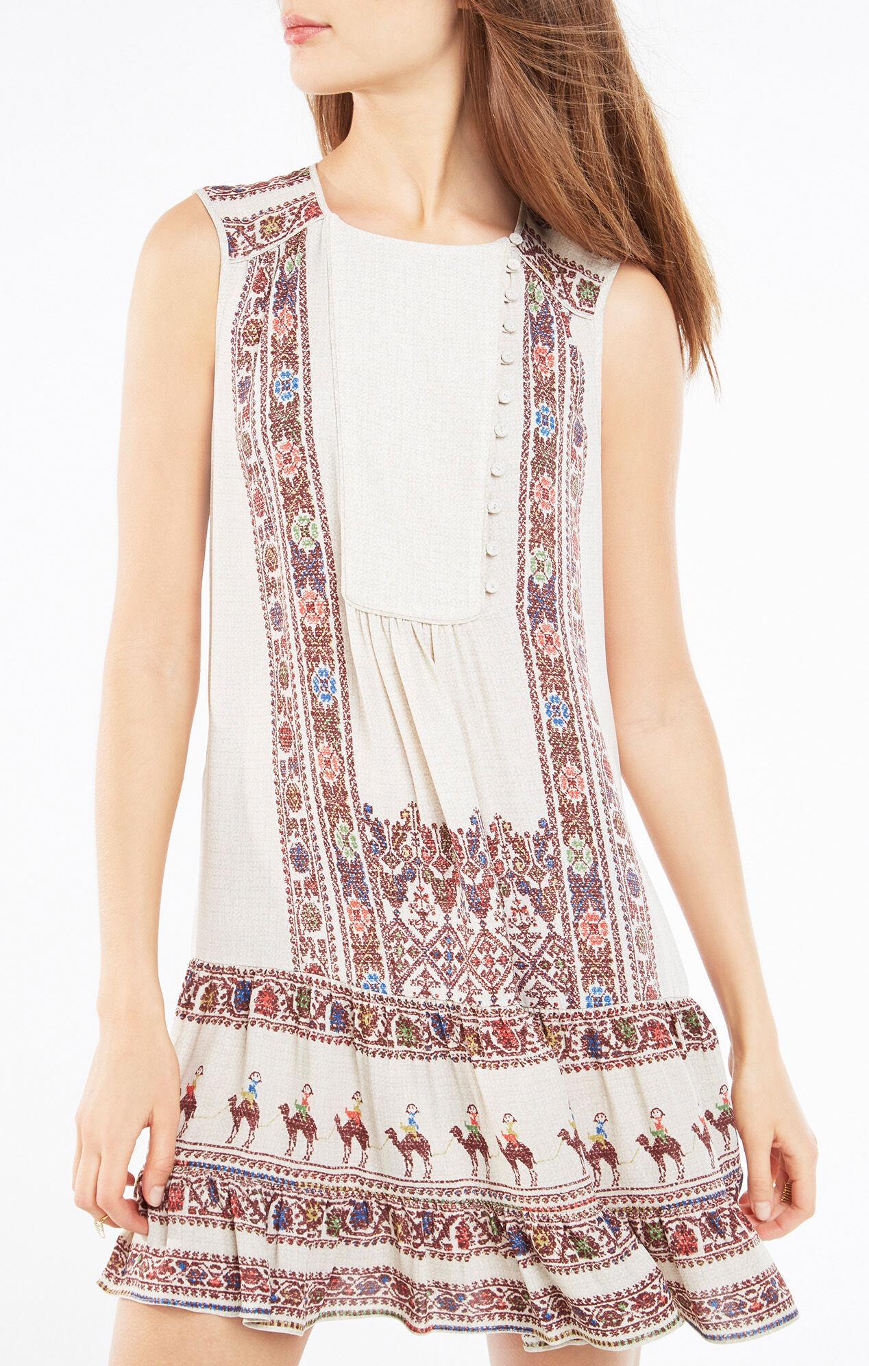 Yulissa Tapestry Print Flounce Dress