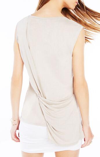 Mira Twist-Back Asymmetrical Top