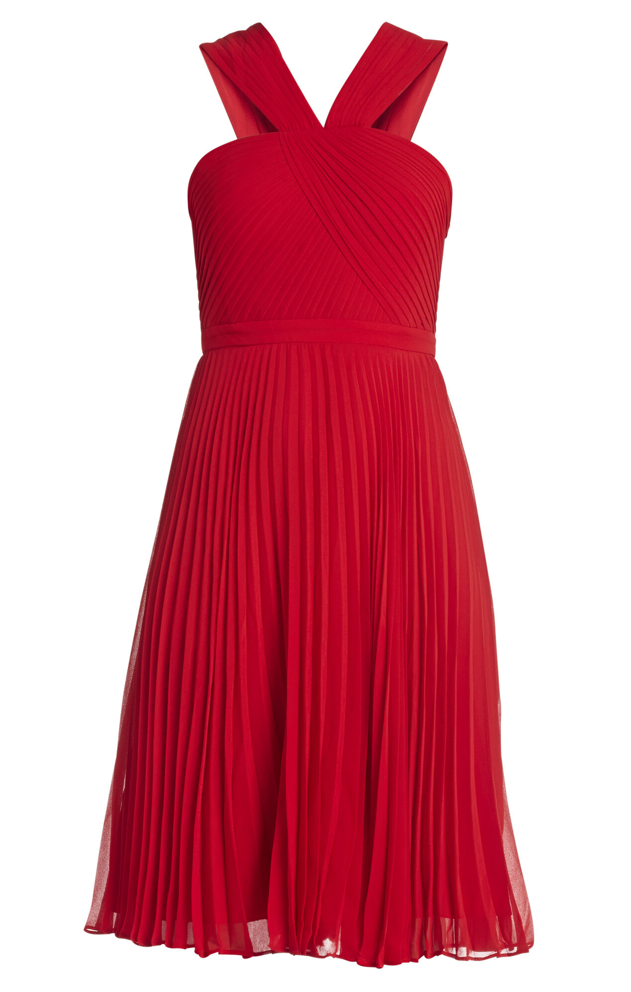 Marielle V-Neck Pleated Dress