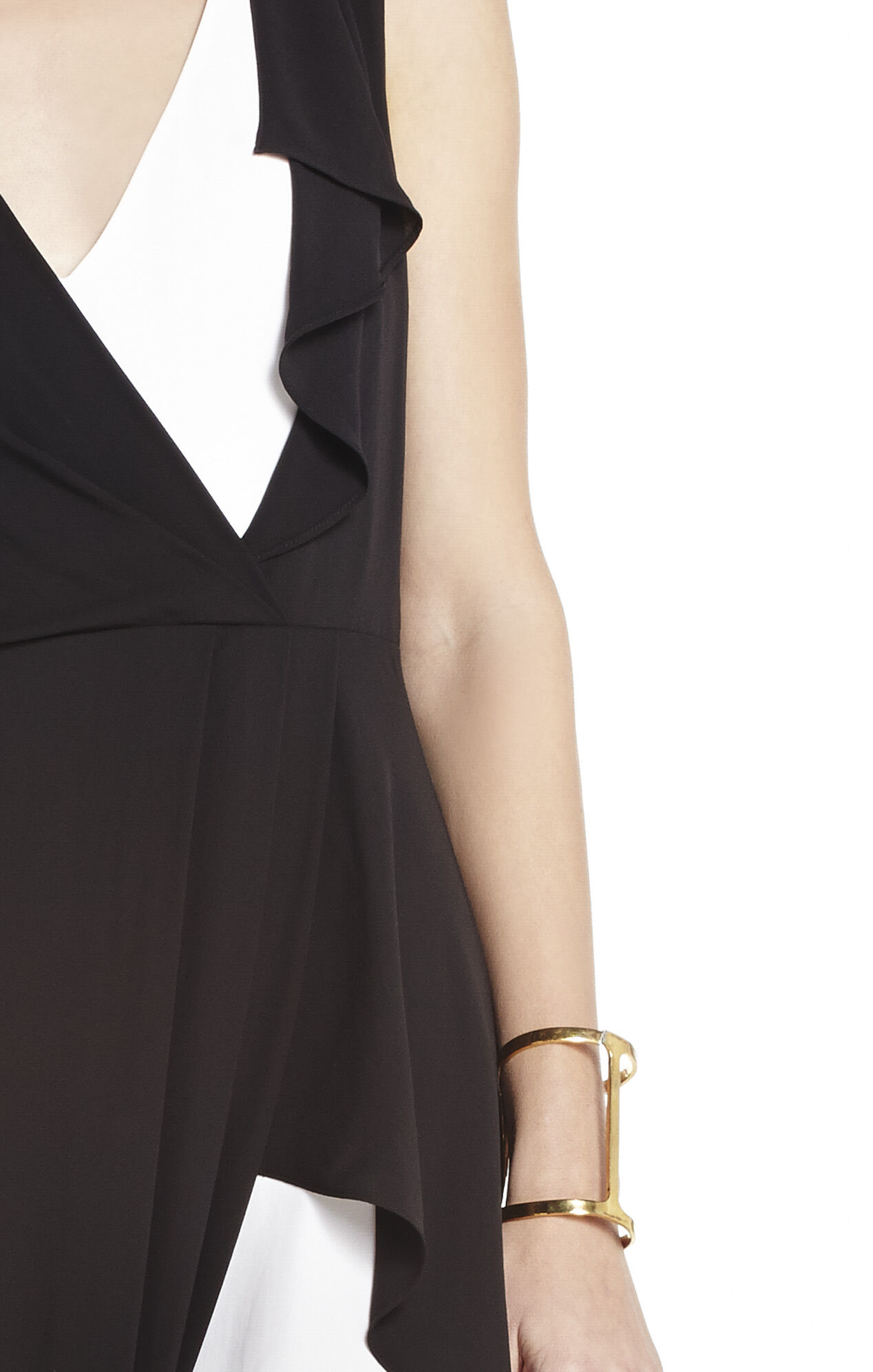 Yuliana V-Neck Evening Dress