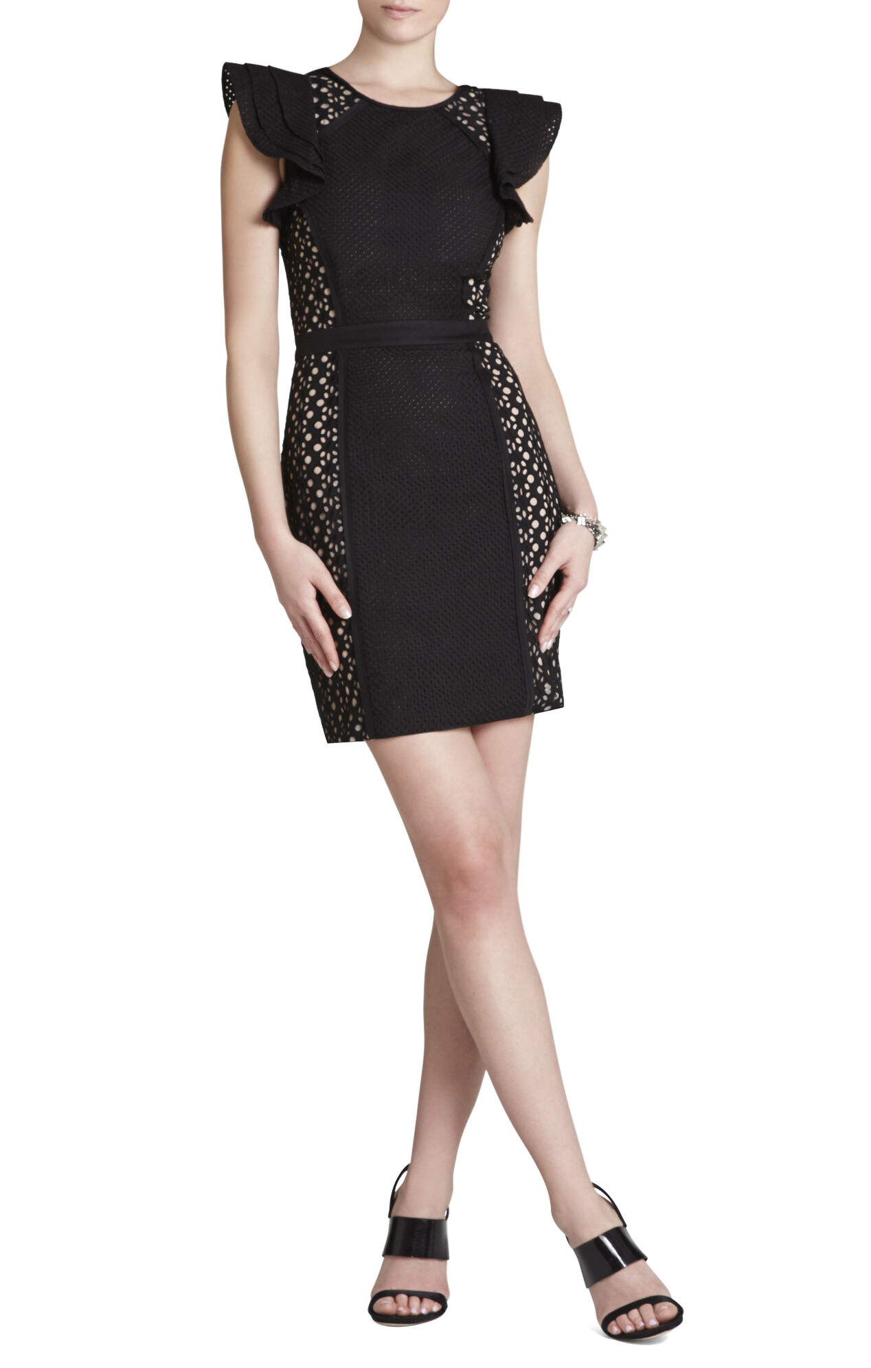 Desirae Fitted Eyelet Dress