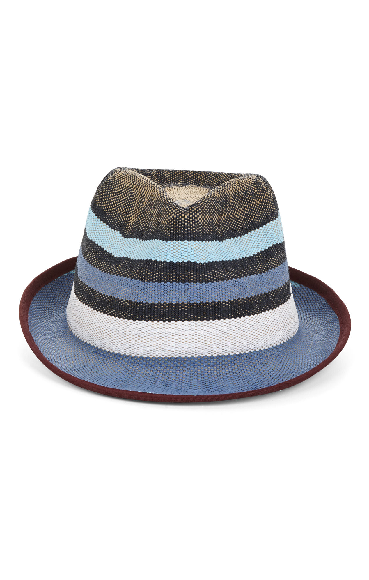 Blocked-Stripe Fedora