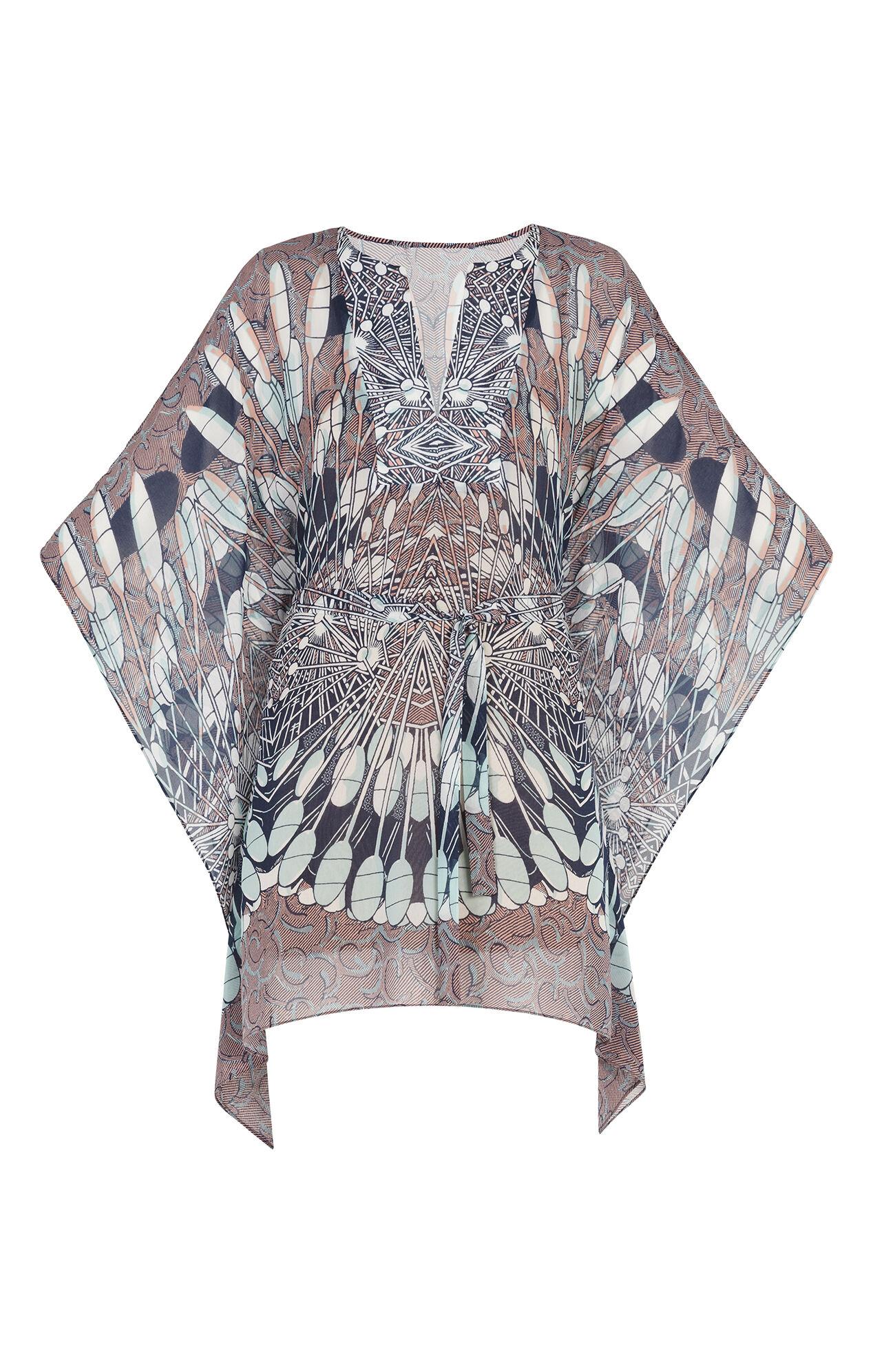 Inesa Draped Scarf Print Dress
