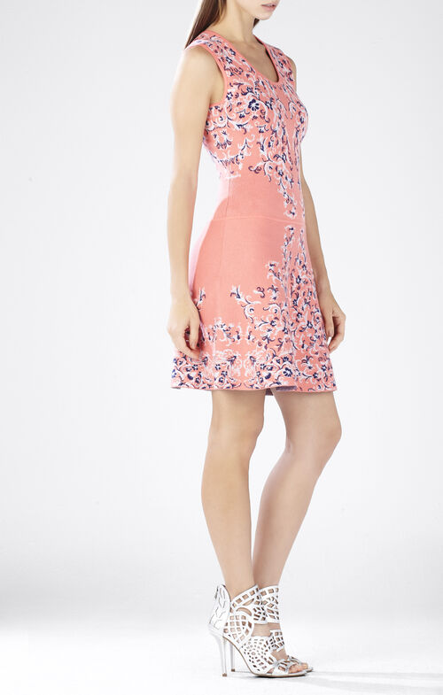 Wilma Embroidered Jacquard A-Line Dress
