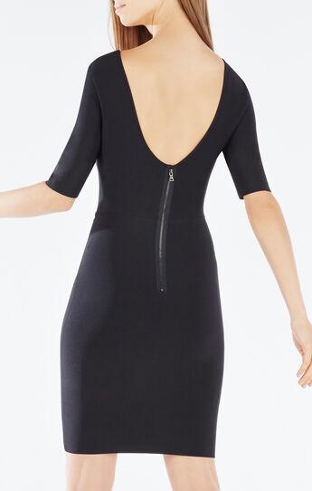 Jaydan Pointelle Trim Scoop-Back Dress