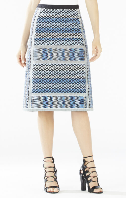 Evangelie Embroidered Woven Jacquard Skirt
