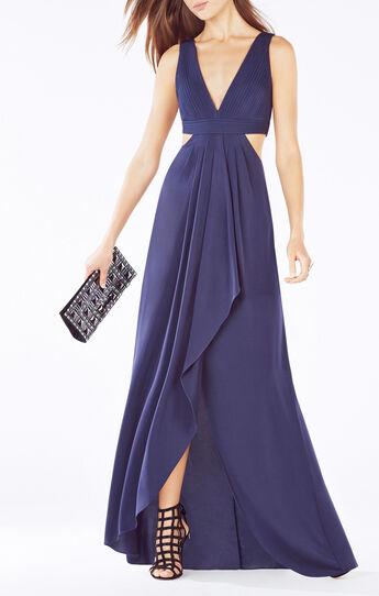 Elinne Cutout Pleated Gown