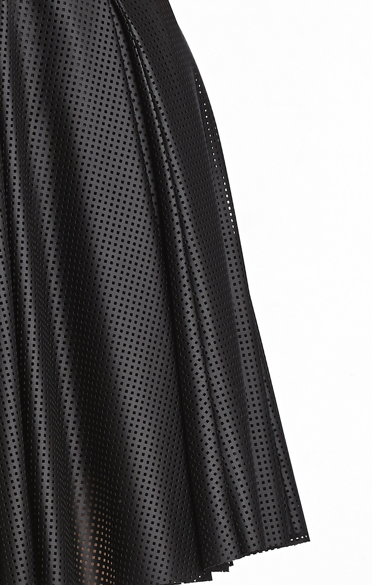 Karlie Perforated Pleated Dress